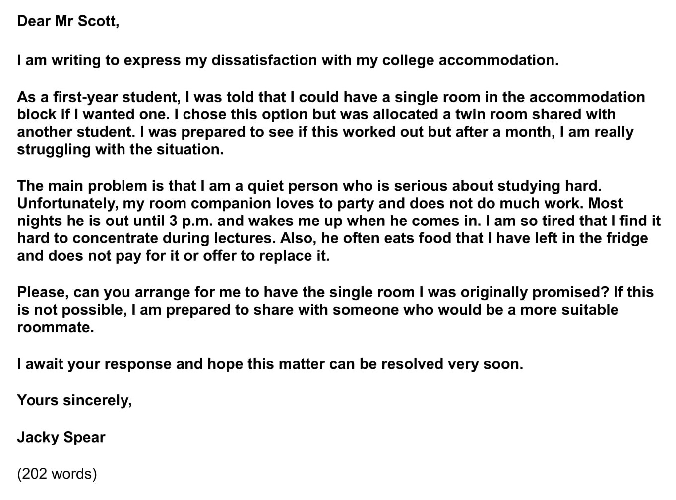 Sample Letter To Clean Up Property from www.ieltsjacky.com