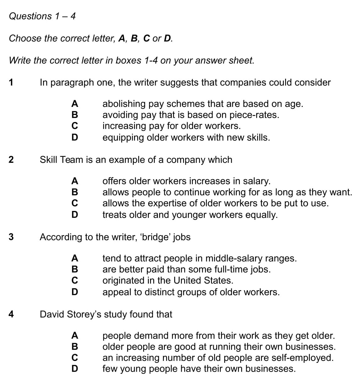 Ielts Reading Multiple Choice Questions Ielts Jacky